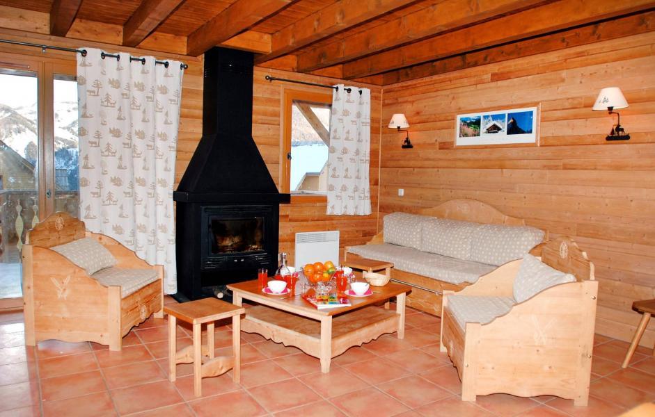 Vakantie in de bergen Le Hameau de Praroustan - Pra Loup - Woonkamer