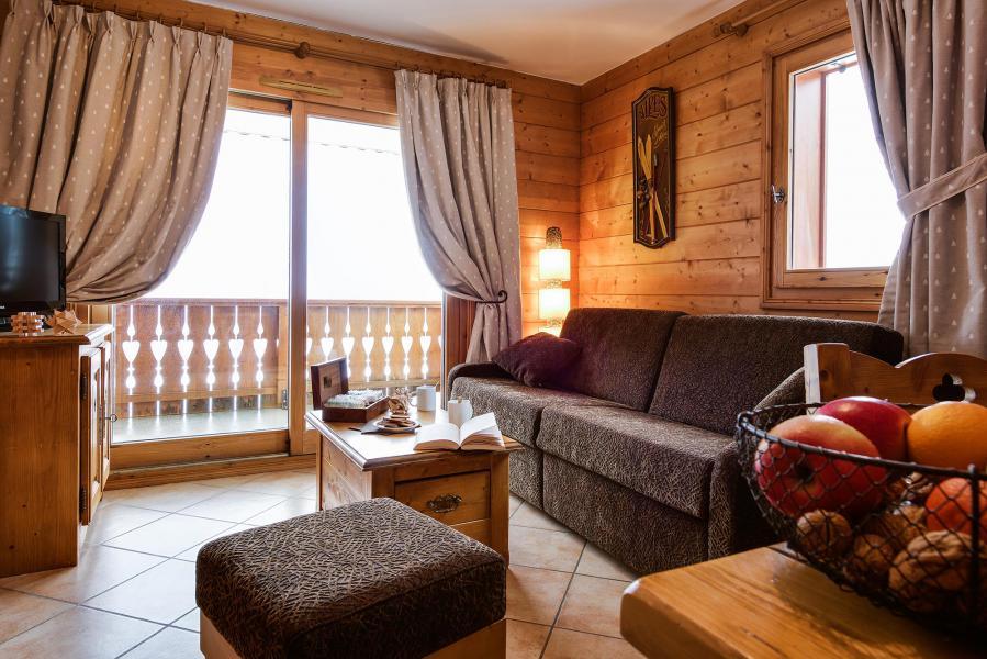 Urlaub in den Bergen Le Hameau du Beaufortain - Les Saisies - Wohnzimmer