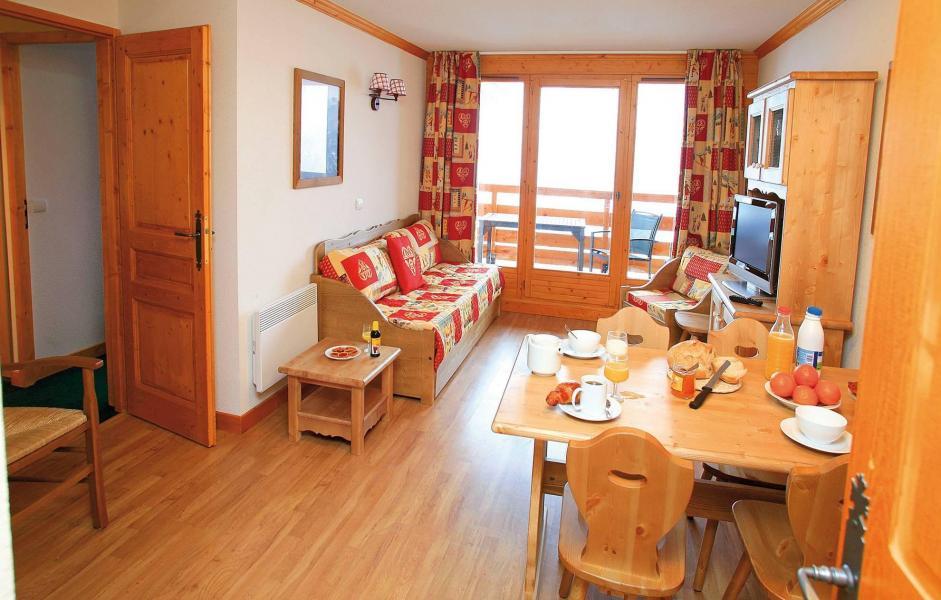 Urlaub in den Bergen Le Hameau et les Chalets de la Vallée d'Or - Valloire - Wohnzimmer