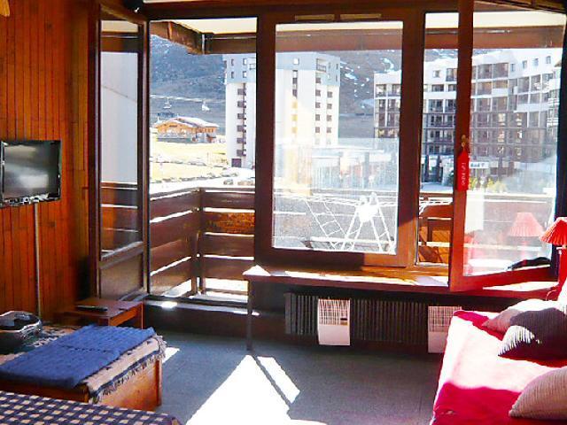 Vakantie in de bergen Appartement 2 kamers 6 personen (7) - Le Prariond - Tignes - Woonkamer