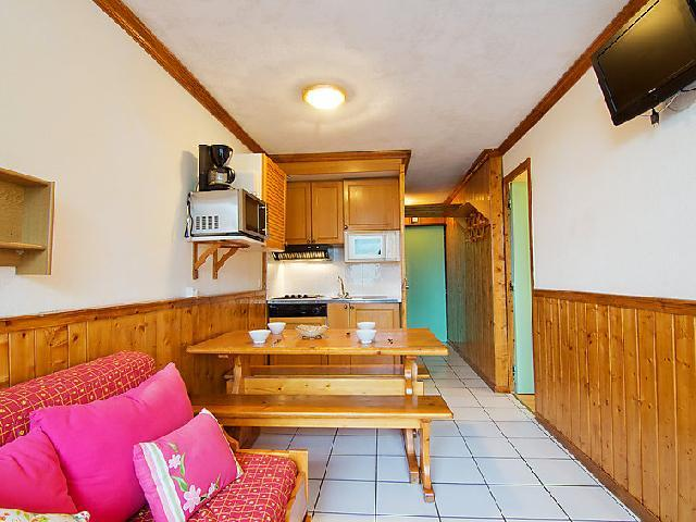 Vakantie in de bergen Appartement 2 kamers 6 personen (6) - Le Villaret - Les Menuires - Eethoek