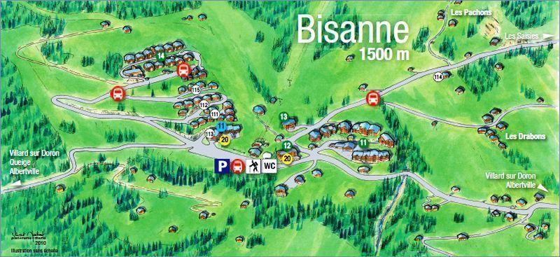 Vacaciones en montaña Les Alpages de Bisanne B - Les Saisies - Plano