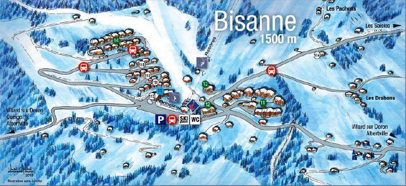 Vacaciones en montaña Les Alpages de Bisanne E - Les Saisies - Plano