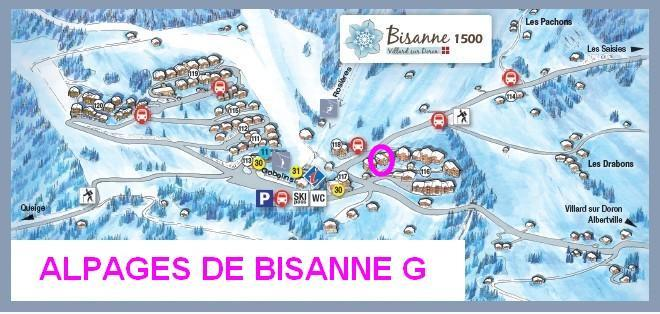 Vacaciones en montaña Les Alpages de Bisanne G - Les Saisies - Plano