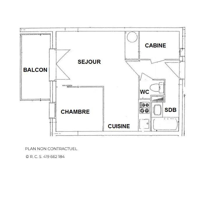 Vakantie in de bergen Appartement 2 kabine kamers 4 personen (13) - Les Balcons d'Olympie - Les Menuires