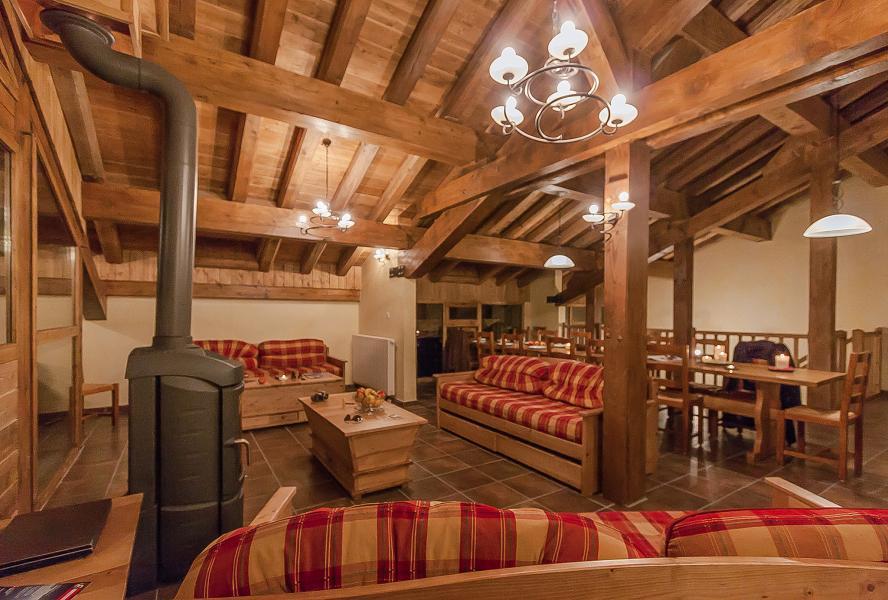 Urlaub in den Bergen Les Balcons de la Rosière - La Rosière - Wohnzimmer