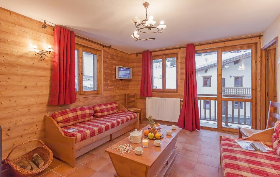 Urlaub in den Bergen Les Balcons de Val Cenis Village - Val Cenis - Kleines Wohnzimmer
