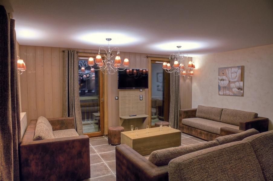 Holiday in mountain resort Les Balcons Platinium - Val Thorens - Living area