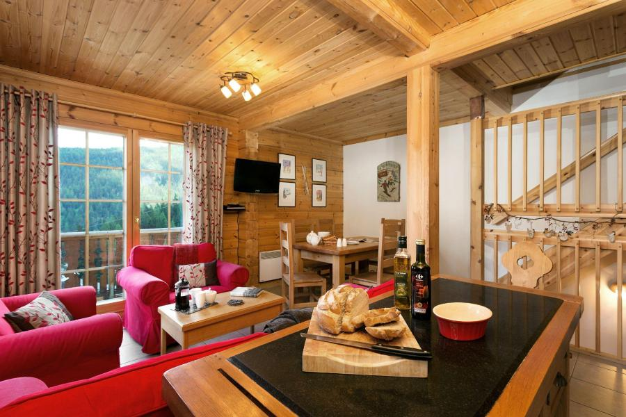 Vakantie in de bergen Les Chalets de Crête Côte Village - La Plagne - Woonkamer