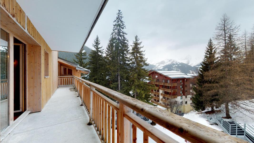 Urlaub in den Bergen 2-Zimmer-Holzhütte für 6 Personen - Les Chalets de Florence - Valfréjus - Balkon