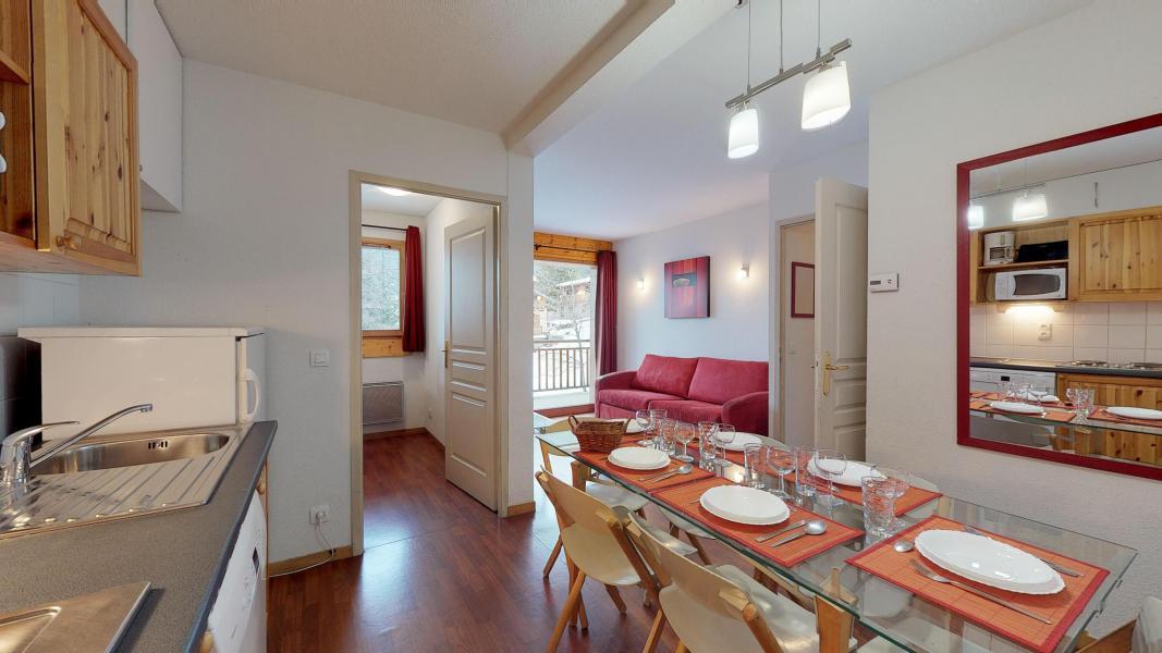 Urlaub in den Bergen 2-Zimmer-Holzhütte für 6 Personen - Les Chalets de Florence - Valfréjus - Küche