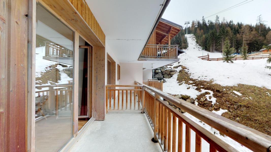 Vacaciones en montaña Apartamento 2 piezas para 4 personas - Les Chalets de Florence - Valfréjus - Balcón