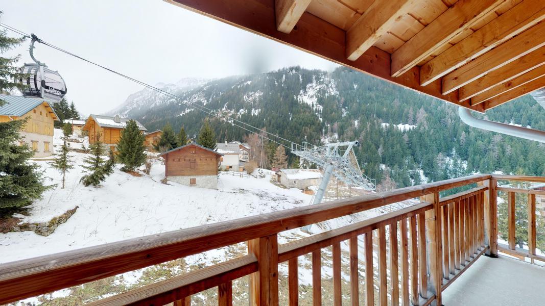 Urlaub in den Bergen Studio Kabine für 4 Personen - Les Chalets de Florence - Valfréjus - Balkon