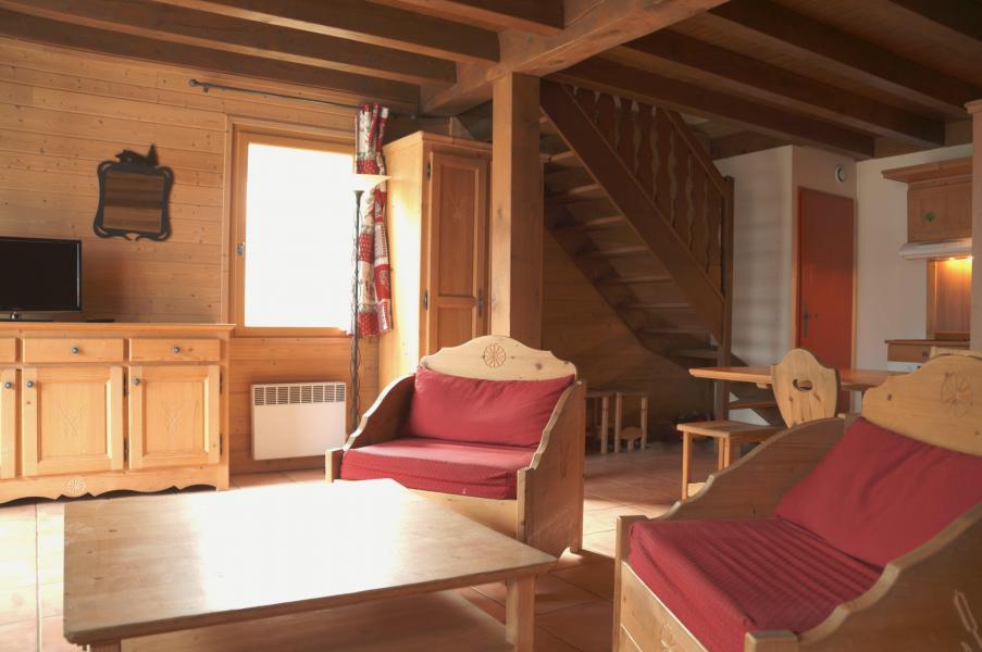 Vakantie in de bergen Chalet 4 kamers 8-10 personen - Les Chalets de Pra Loup 1500 - Pra Loup - Woonkamer