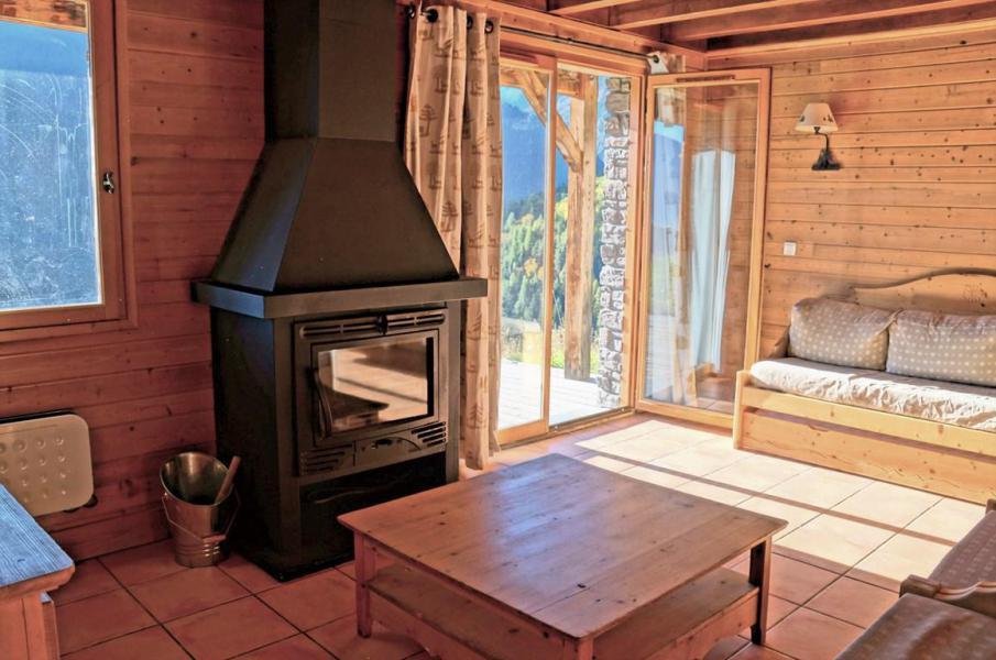 Holiday in mountain resort 5 room mezzanine chalet 12 people (8) - Les Chalets de Praroustan - Pra Loup - Fireplace
