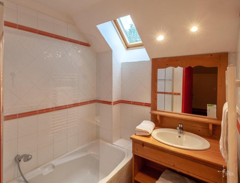Holiday in mountain resort Les Chalets de Praroustan - Pra Loup - Bath-tub