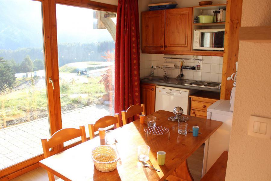 Vacaciones en montaña Apartamento 2 piezas para 4 personas (BL03) - Les Chalets de SuperD Bleuet - Superdévoluy - Comedor