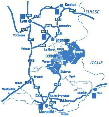 Vacaciones en montaña Les Chalets de SuperD Fraxinelle - Superdévoluy - Plano