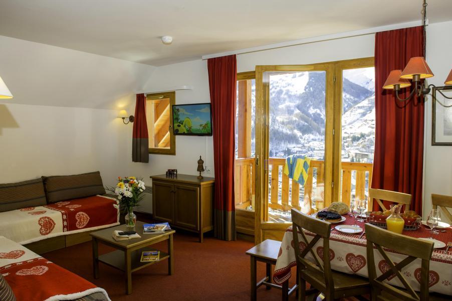 Urlaub in den Bergen Les Chalets de Valoria - Valloire - Wohnzimmer