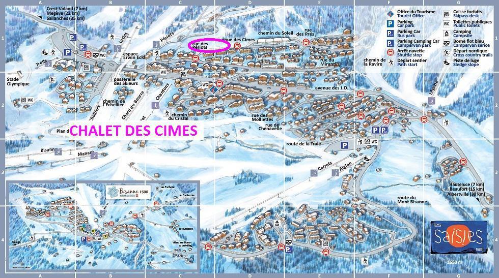 Каникулы в горах Les Chalets des Cimes - Les Saisies - план