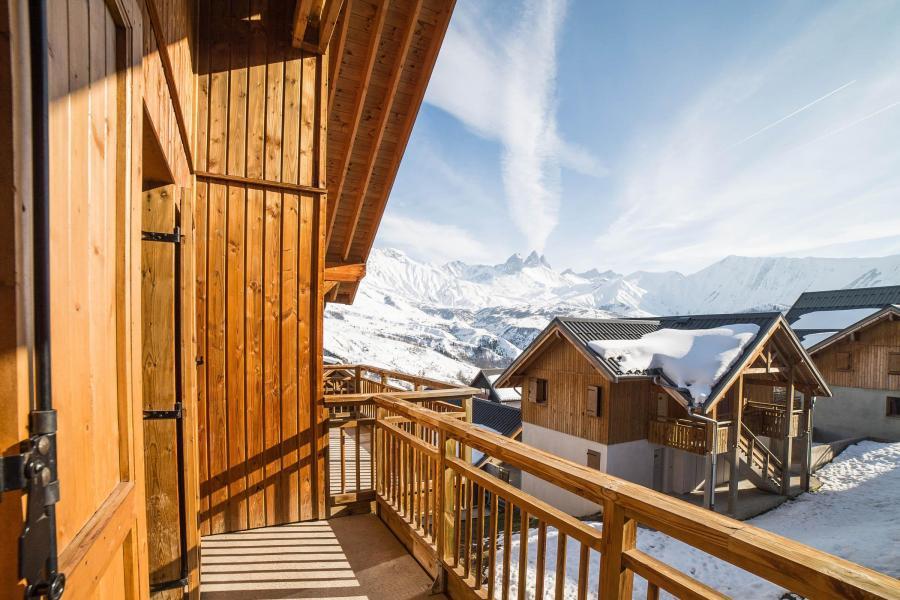 Urlaub in den Bergen Les Chalets du Hameau des Aiguilles - Albiez Montrond - Balkon