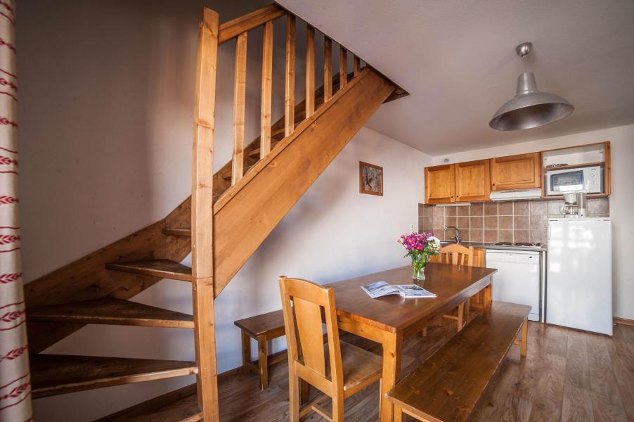 Urlaub in den Bergen Les Chalets du Hameau des Aiguilles - Albiez Montrond - Küche