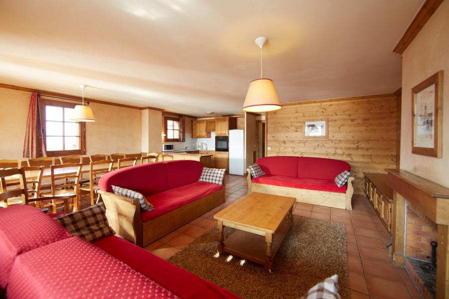 Urlaub in den Bergen Les Chalets du Soleil - Les Menuires - Wohnzimmer
