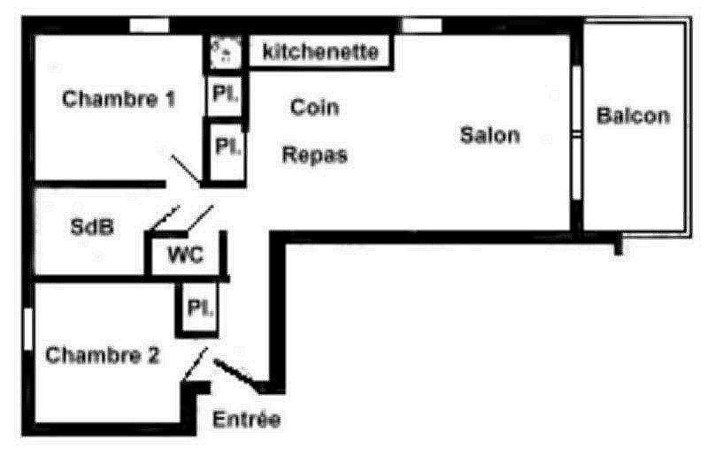 Vacaciones en montaña Apartamento 3 piezas para 6 personas (FERJ03) - Les Fermes du Beaufortain J - Les Saisies - Plano