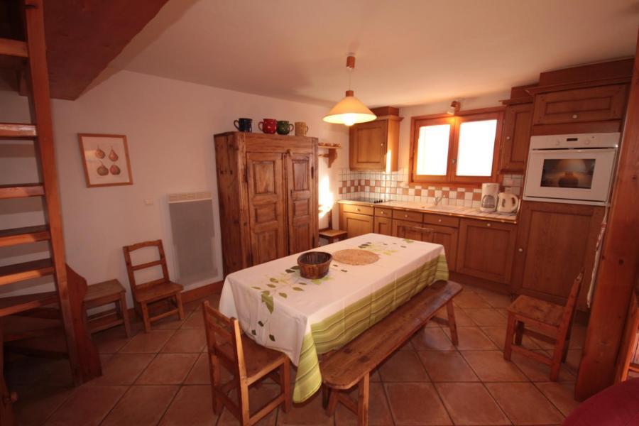 Vacaciones en montaña Apartamento 4 piezas mezzanine para 8 personas (FERJ07) - Les Fermes du Beaufortain J - Les Saisies - Comedor