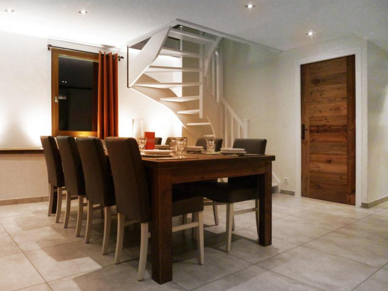Holiday in mountain resort 6 room apartment 12 people (5) - Les Fermes du Planet - Valloire - Dining area