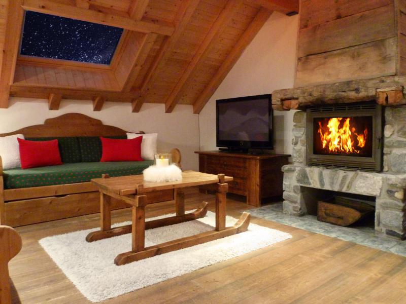 Holiday in mountain resort 6 room triplex apartment 12 people (3) - Les Fermes du Planet - Valloire - Fireplace