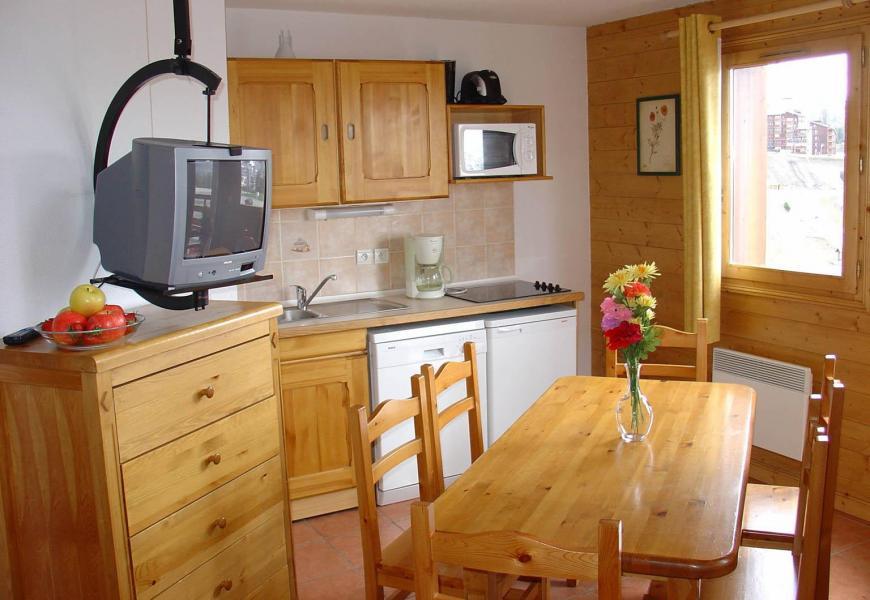Urlaub in den Bergen Les Lodges des Alpages - La Plagne - Wohnzimmer