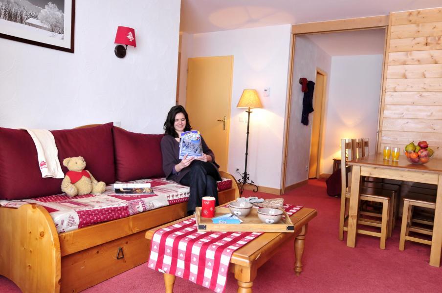 Urlaub in den Bergen Les Terrasses du Corbier - Le Corbier - Sofa