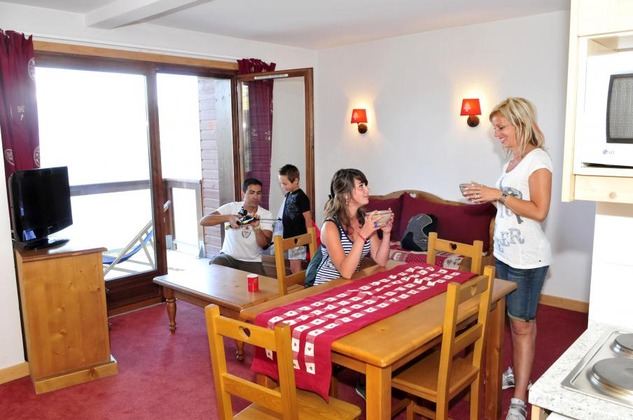 Urlaub in den Bergen Les Terrasses du Corbier - Le Corbier - Wohnzimmer