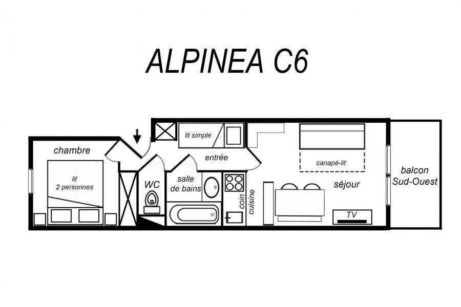 Vacances en montagne Logement 2 pièces 5 personnes (ALPC06) - Résidence Alpinéa - Méribel-Mottaret