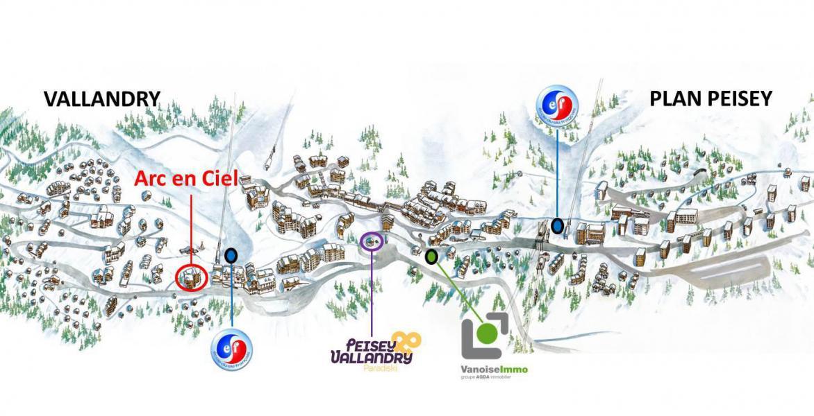Holiday in mountain resort Studio cabin 4 people (10347) - Résidence Arc en Ciel 1 et 2 - Peisey-Vallandry