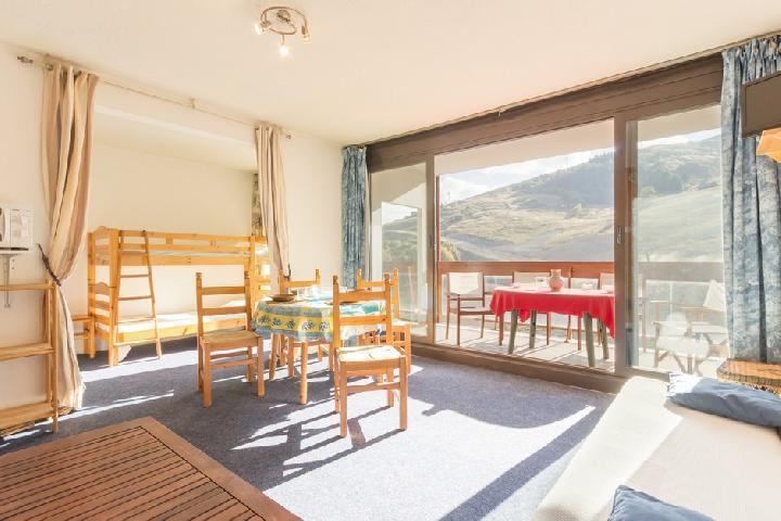 Holiday in mountain resort Studio sleeping corner 4 people (1004) - Résidence Baikonour - Le Corbier