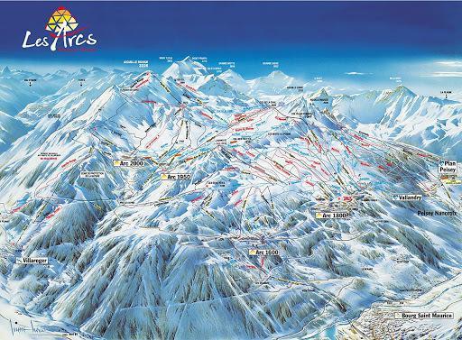 Vacances en montagne Studio coin montagne 4 personnes (403) - Résidence Bel Aval - Les Arcs - Plan