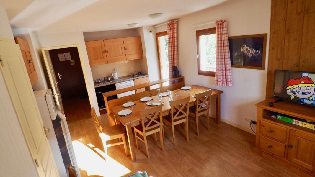 Vakantie in de bergen Appartement 4 kamers 8 personen (8) - Résidence Belvédère Asphodèle - Valfréjus - Woonkamer