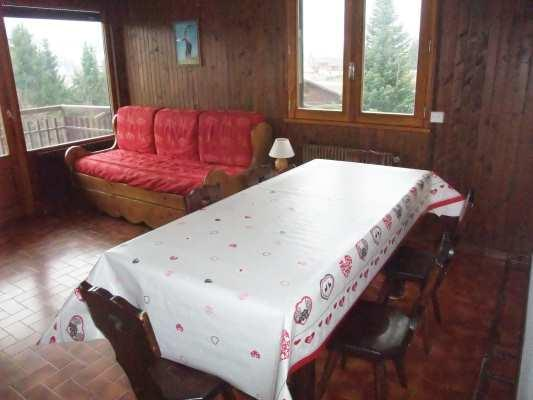 Holiday in mountain resort 2 room apartment 4 people - Résidence Blanche Neige - Le Grand Bornand - Table