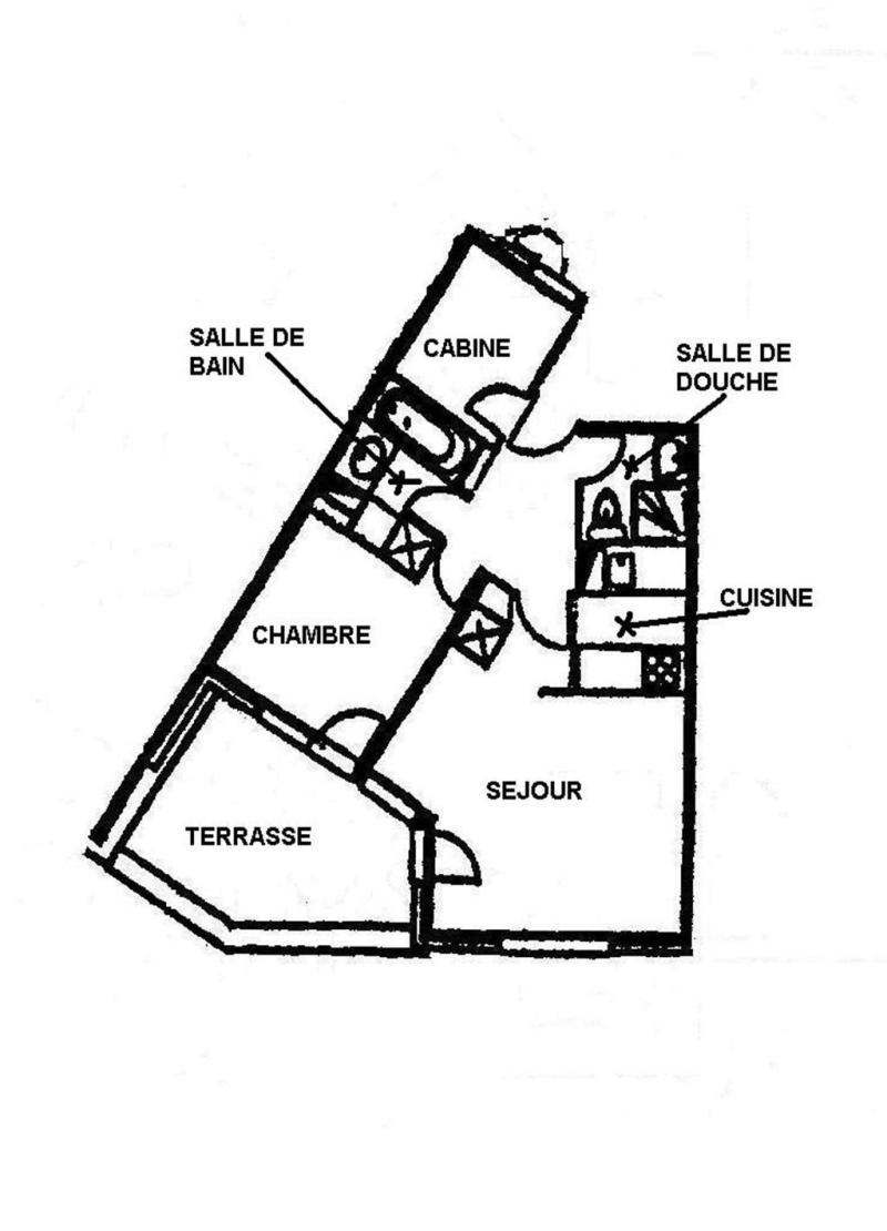 Wakacje w górach Apartament 3 pokojowy 4 osób (G394 n'est plus commercialisé) - Résidence Camarine - Valmorel - Plan