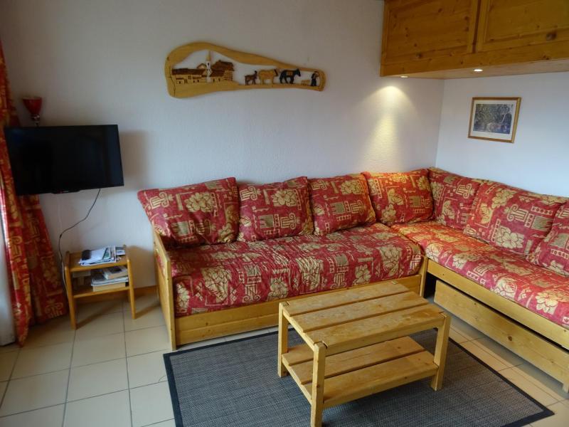 Vakantie in de bergen Appartement 3 kamers 6 personen (03) - Résidence Castors - Peisey-Vallandry - Woonkamer