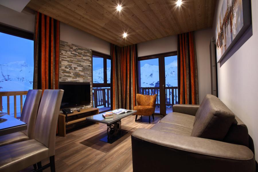 Urlaub in den Bergen Résidence Chalet des Neiges la Source des Arcs - Les Arcs - Kleines Wohnzimmer