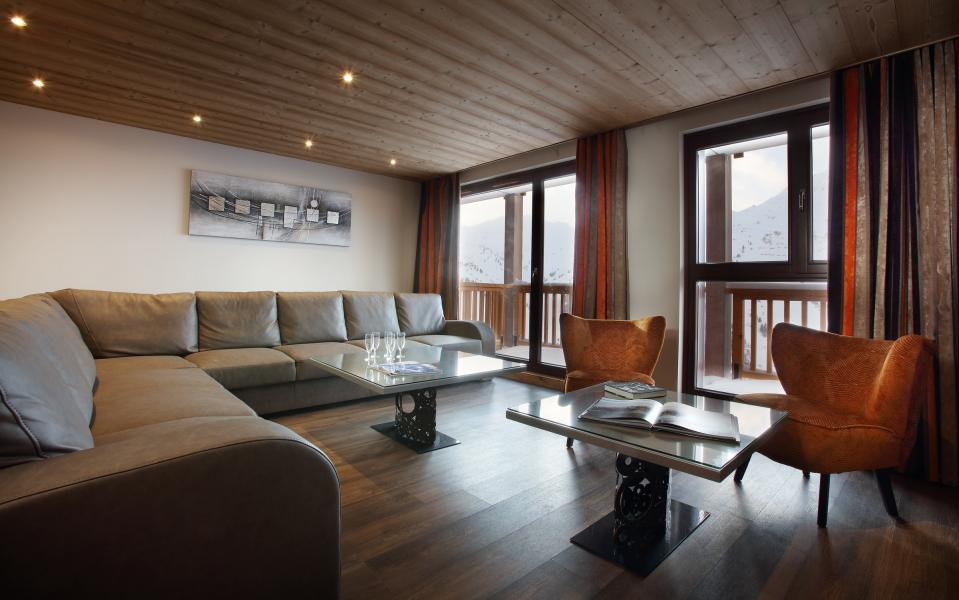 Urlaub in den Bergen Résidence Chalet des Neiges la Source des Arcs - Les Arcs - Wohnzimmer