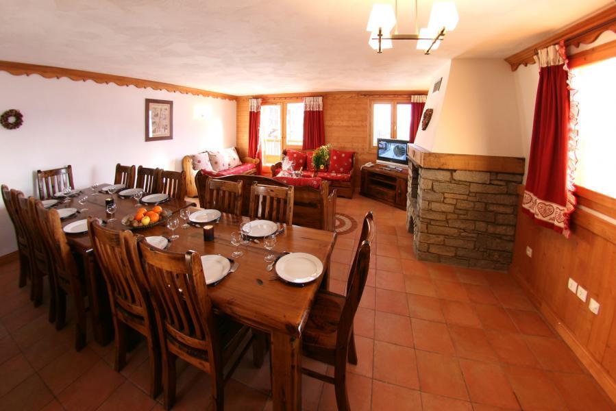 Vacances en montagne Résidence Chalet des Neiges Plein Sud - Val Thorens - Salle à manger