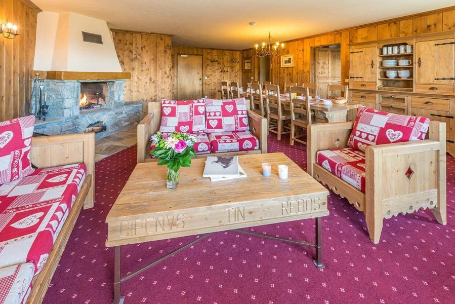 Urlaub in den Bergen 6 Zimmer Appartement für 10-12 Personen - Résidence Chalet le Refuge la Rosière - La Rosière - Wohnzimmer