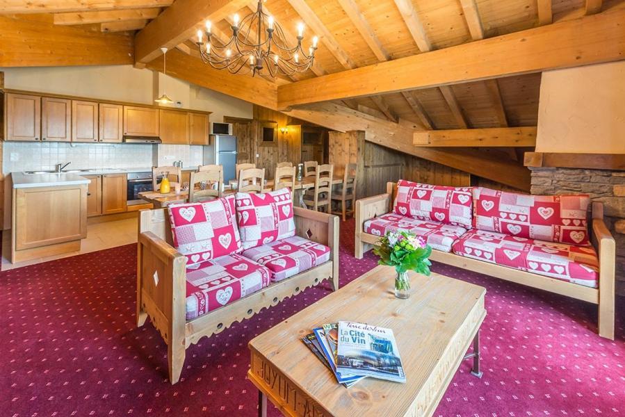 Vakantie in de bergen Appartement 5 kamers 8-10 personen - Résidence Chalet le Refuge la Rosière - La Rosière - Woonkamer
