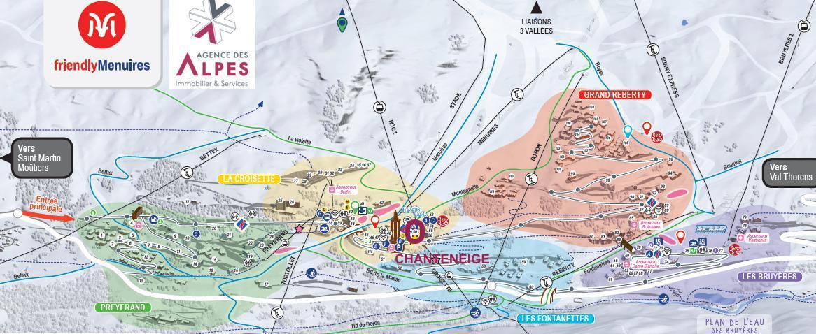 Vakantie in de bergen Résidence Chanteneige - Les Menuires