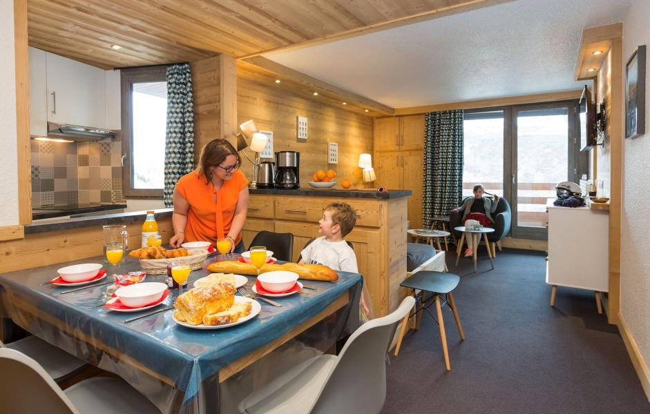 Holiday in mountain resort Résidence Chanteneige Croisette - Les Menuires - Kitchen