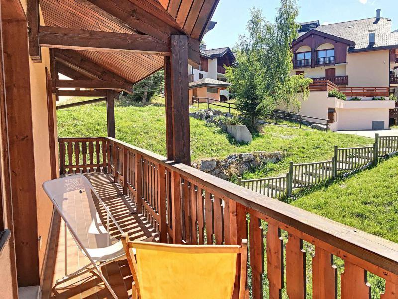 Wakacje w górach Apartament duplex 5 pokojowy 10 osób (C) - Résidence Charmettes - Saint Martin de Belleville - Balkon